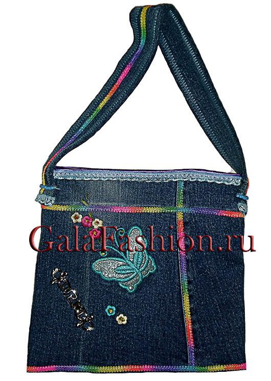 Детская джинсовая сумочка, пошив детских сумочек.