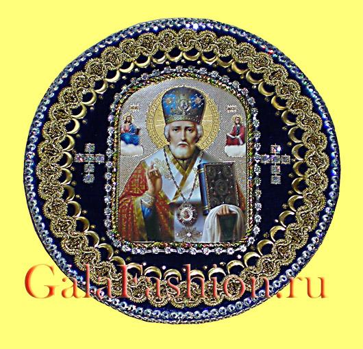 Вышивка крестом икона николая чудотворца.